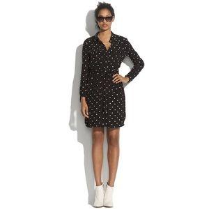 Madewell Broadway & Broome Polka Dot Shirt Dress